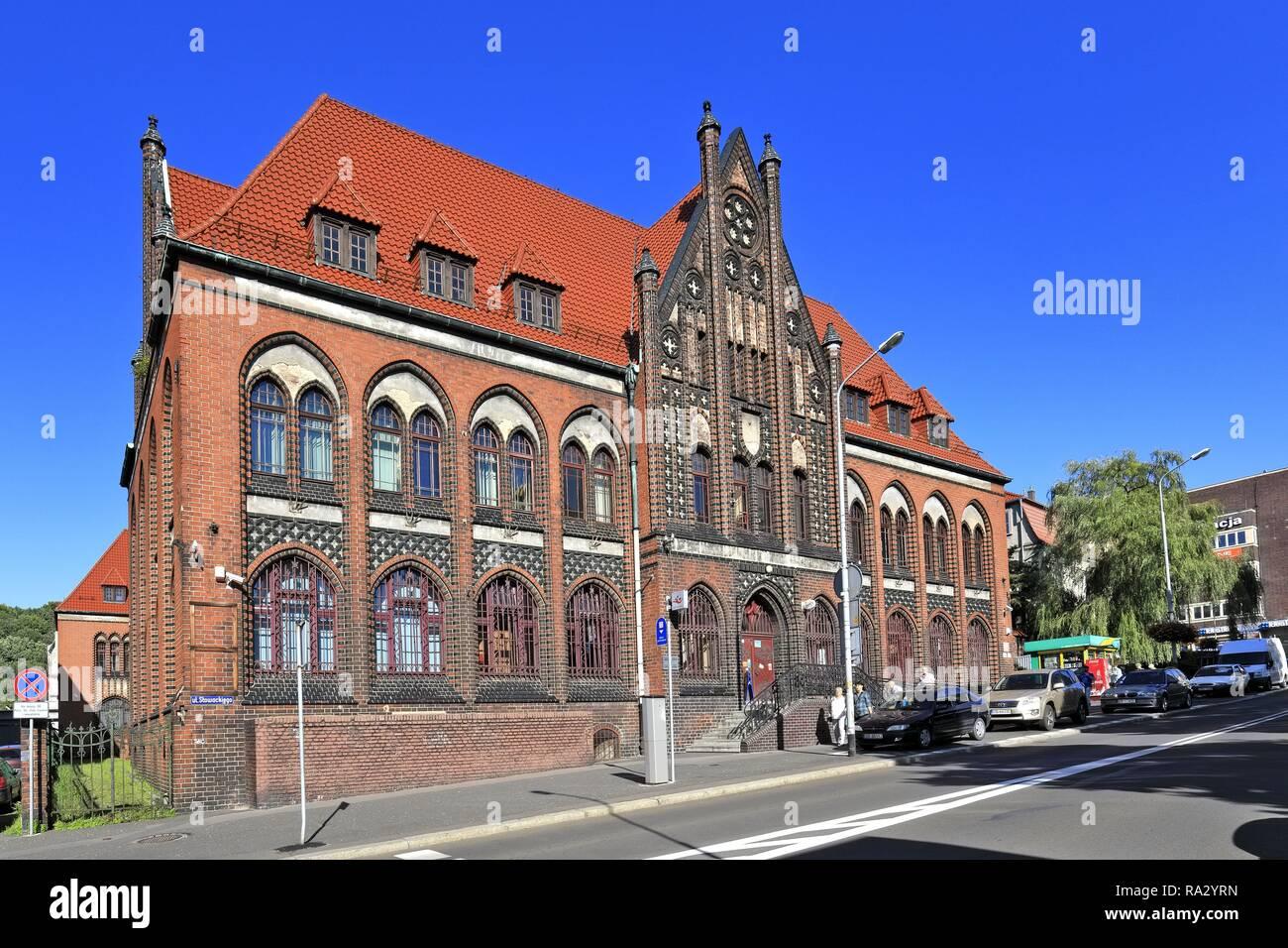 Poland , Lower Silesia , Walbrzych , Historical Post Office building by the Slowackiego street - Stock Image