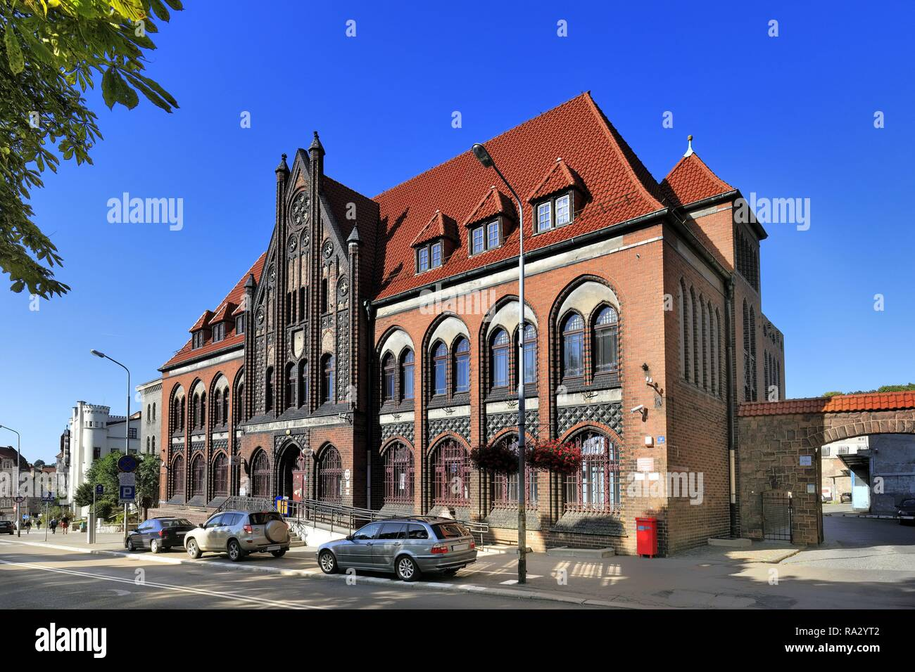 Poland , Lower Silesia , Walbrzych , Historical Post Office building by the Slowackiego street - Stock Image