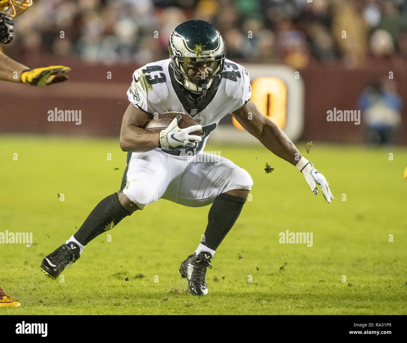Philadelphia Eagles running back Darren Sproles (43) carries the ball in  the second quarter against the Washington Redskins at FedEx Field in  Landover 79ac88d76