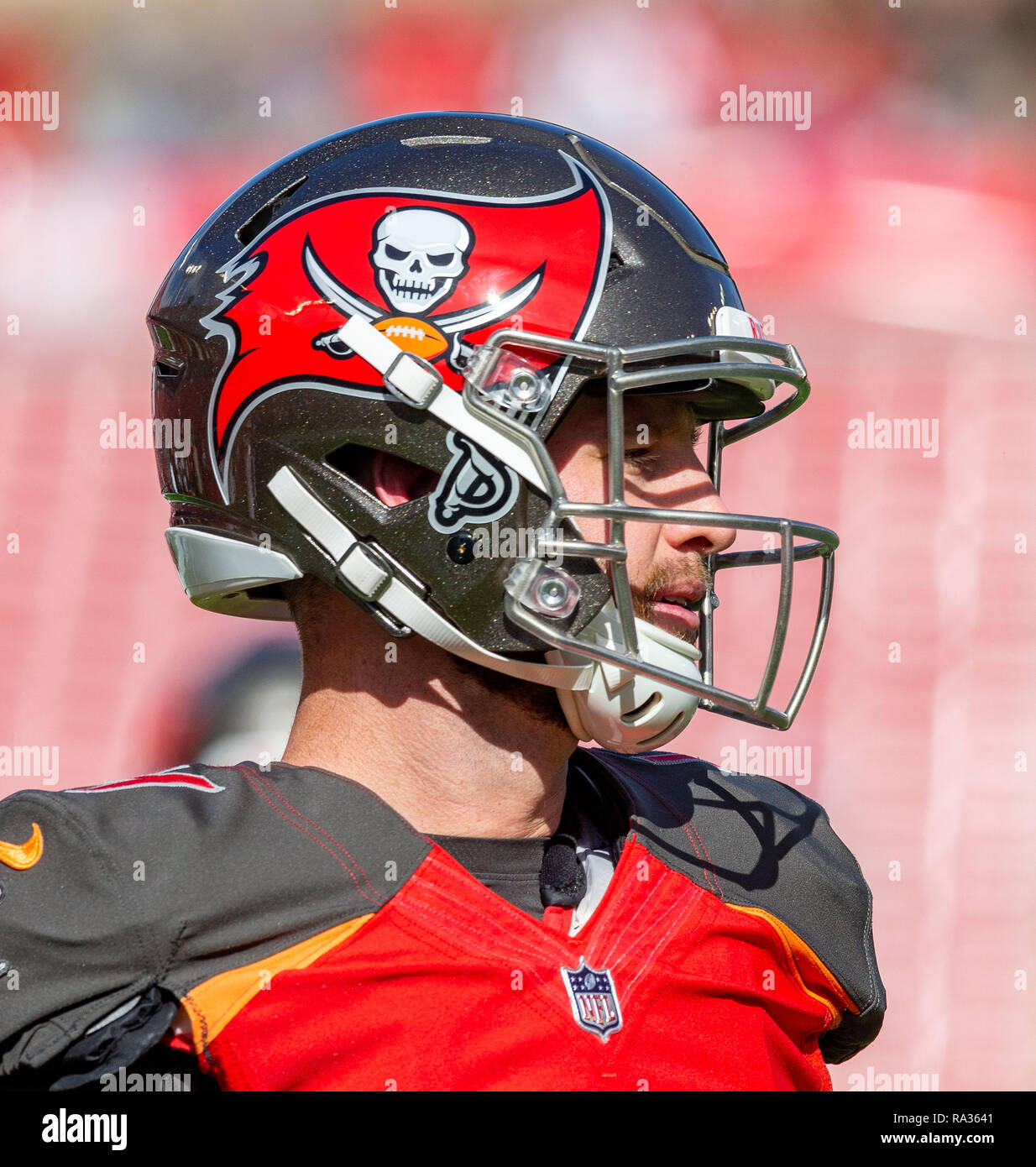ba1608033 Tampa, Florida, USA. 30th Dec, 2018. Tampa Bay Buccaneers quarterback Ryan  Griffin (4) before the game between the Atlanta Falcons and the Tampa Bay  ...