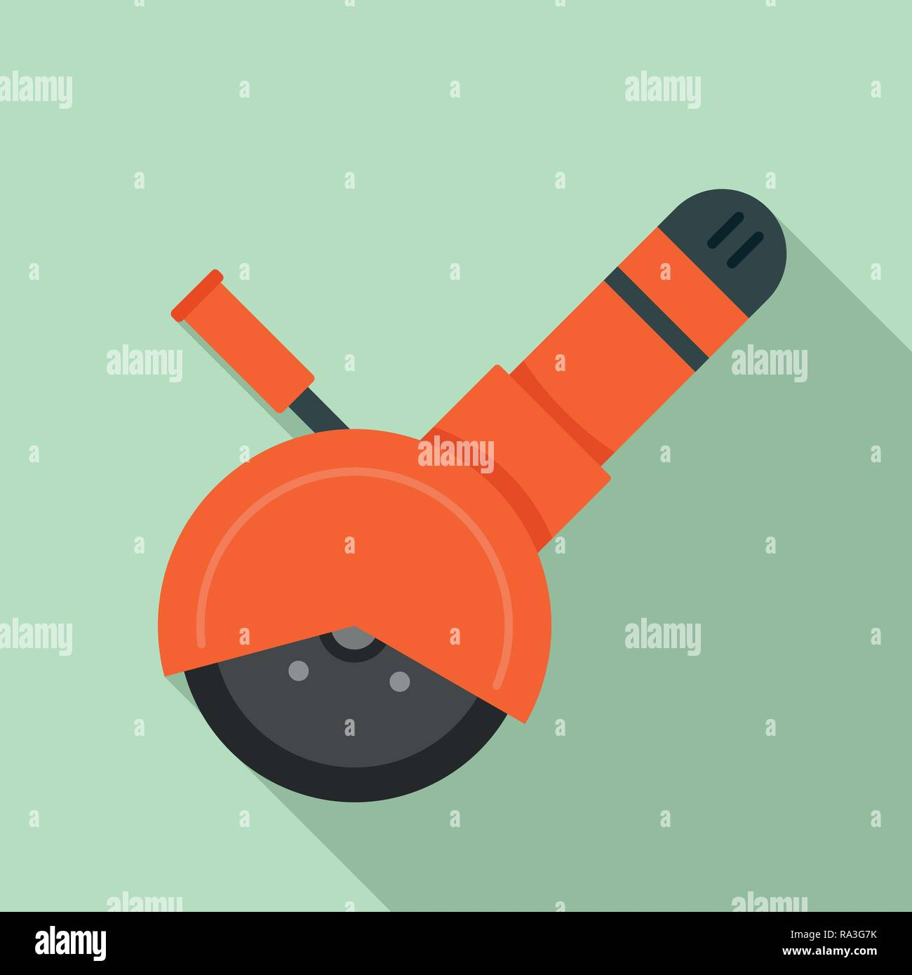 Angle grinder tool icon. Flat illustration of angle grinder tool vector icon for web design - Stock Vector