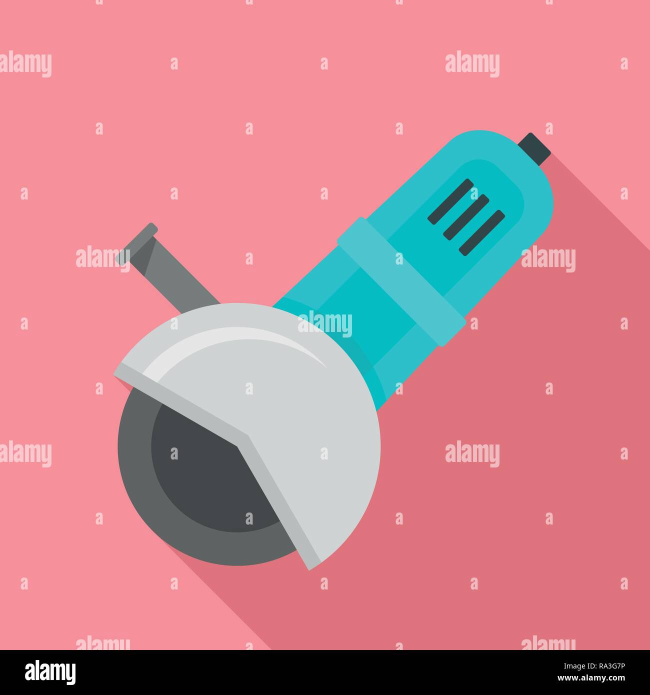 Work angle grinder icon. Flat illustration of work angle grinder vector icon for web design - Stock Vector