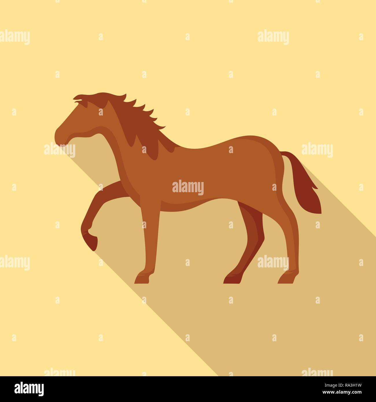 Riding horse icon. Flat illustration of riding horse vector icon for web design - Stock Vector