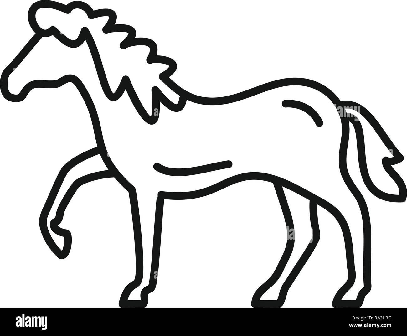Riding horse icon. Outline riding horse vector icon for web design isolated on white background - Stock Vector