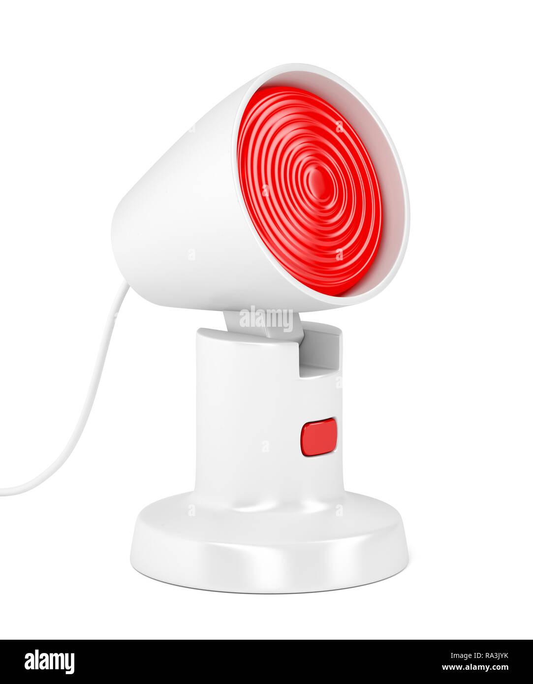 Medical infrared lamp on white background - Stock Image