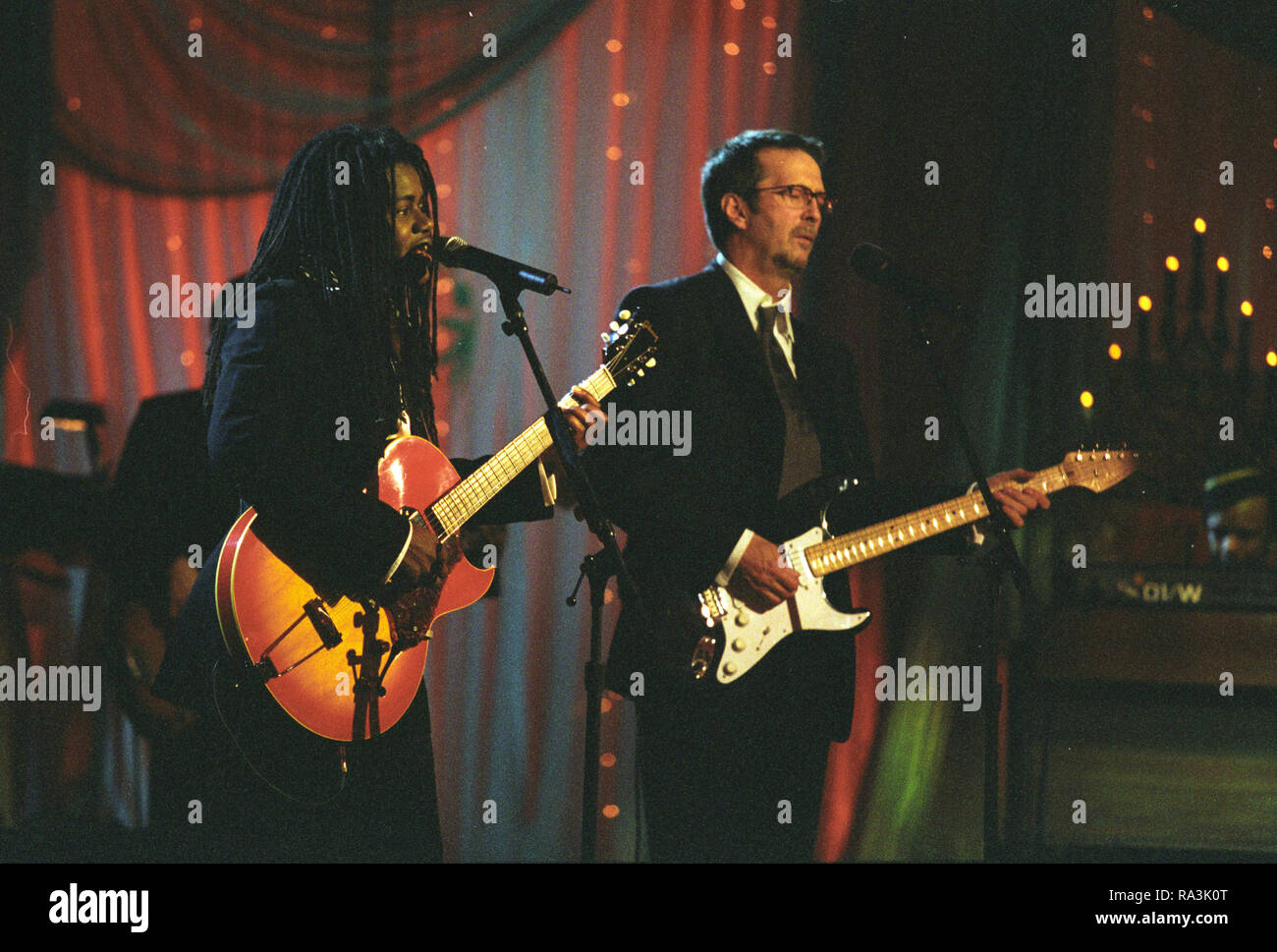 Eric Clapton White Christmas.12 17 1998 Photograph Of Tracy Chapman And Eric Clapton