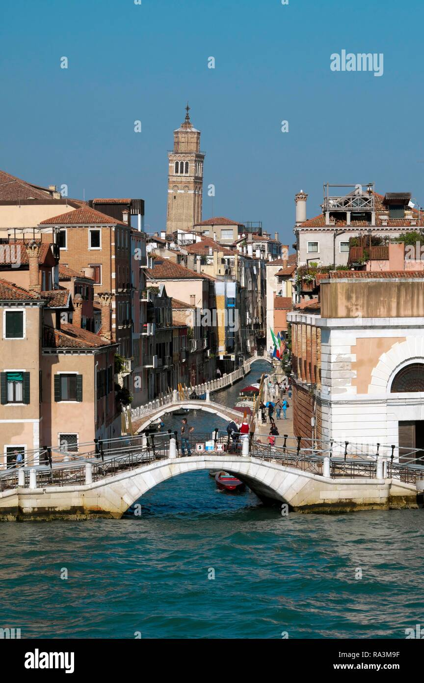 View to the church Chiesa di San Barnaba, Venice, Veneto, Italy - Stock Image