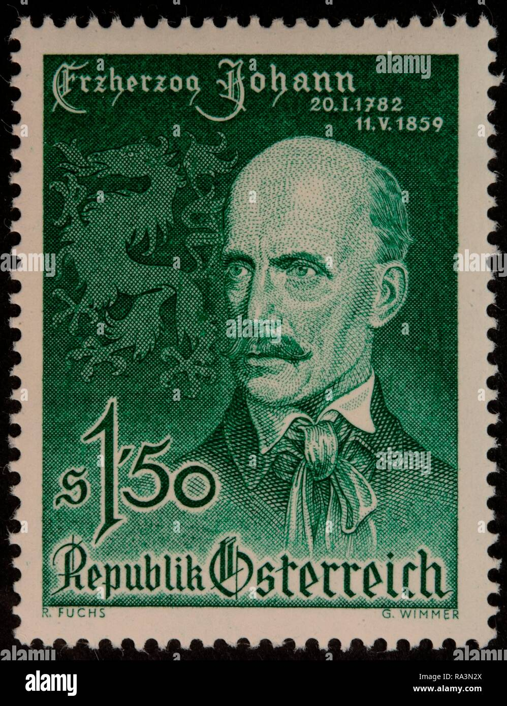 Archduke John of Austria, a member of the House of Habsburg-Lorraine, was an Austrian field marshal - Stock Image