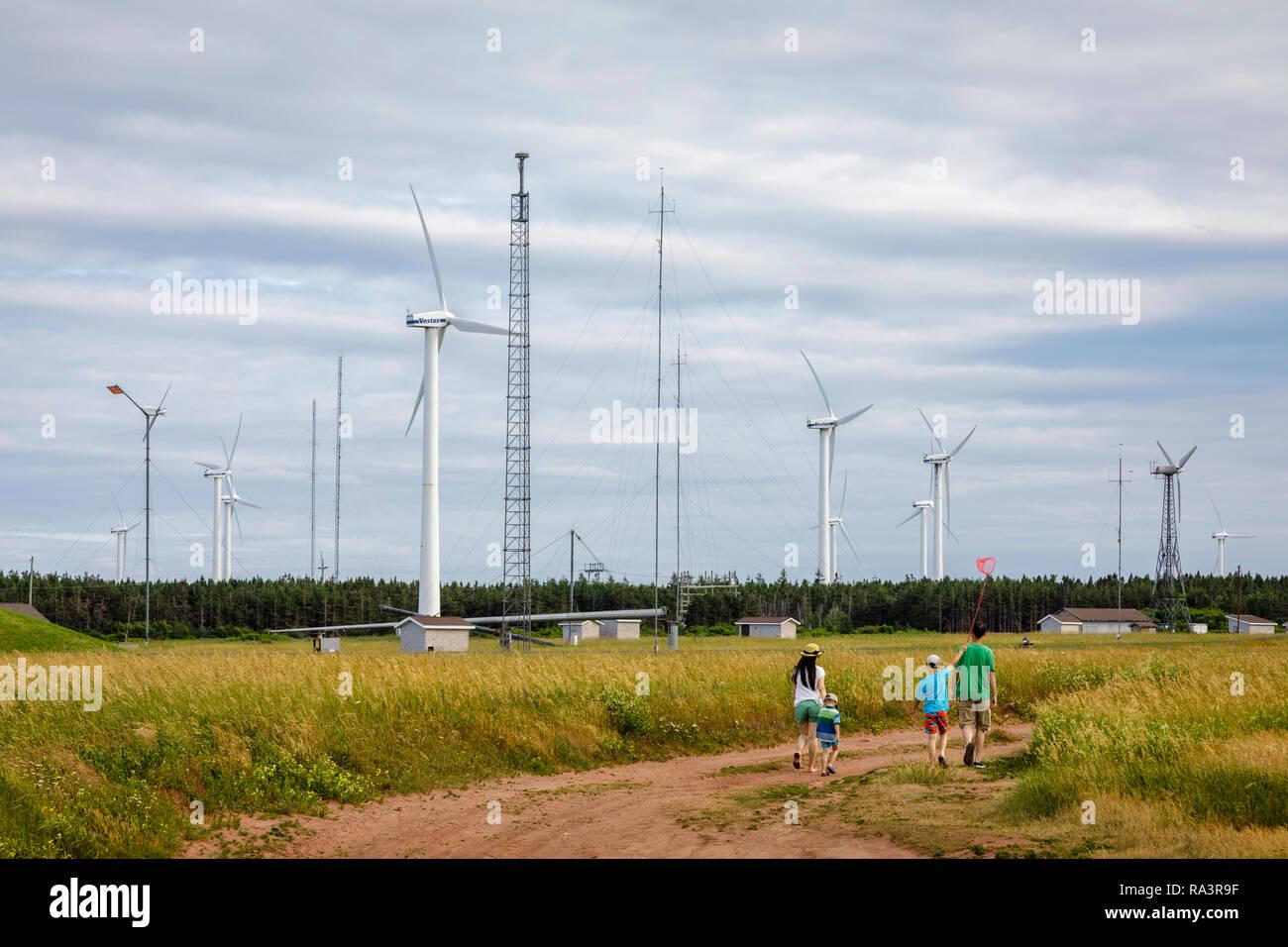Wind Turbines on Prince Edward Island Stock Photo