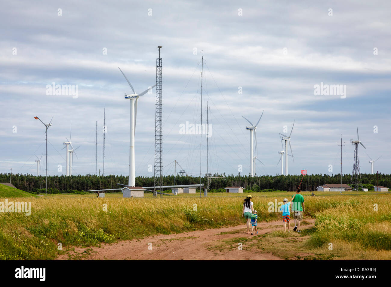 Wind Turbines on Prince Edward Island Stock Photo