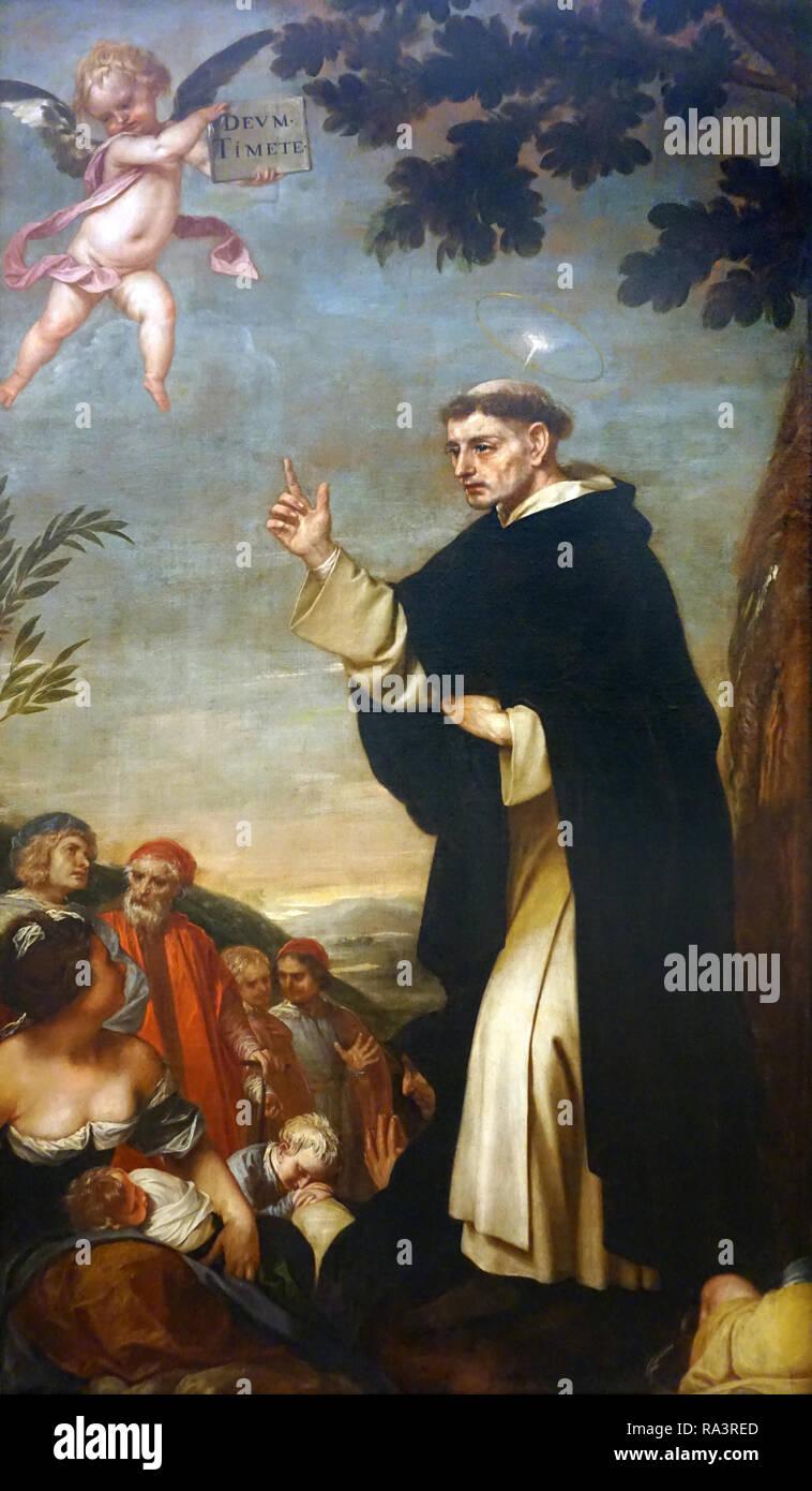 Predicación de san Vicente Ferrer by the artist Alonso Cano spanish painter 1601-1667 - Stock Image