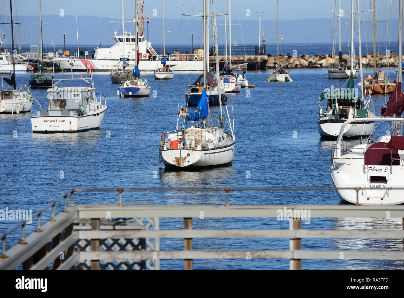 Boats in the harbor - Stock Image