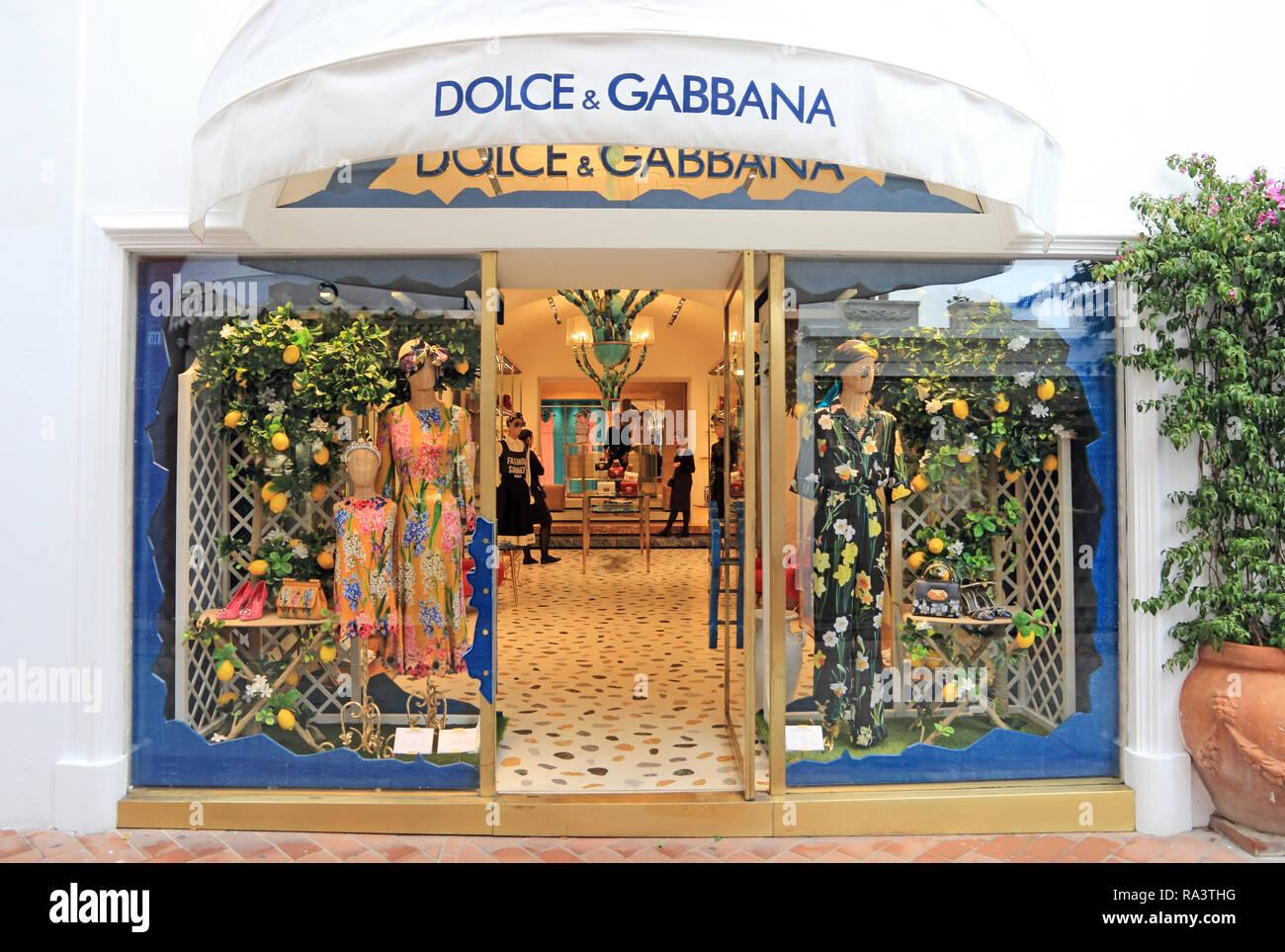Dolce & Gabbana shop, Capri - Stock Image