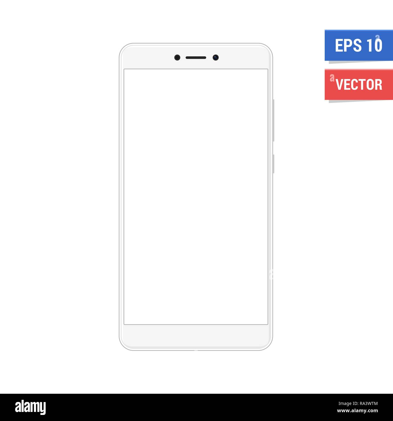 Realistic vector flat mock-up Xiaomi Redmi Note 4 with blank