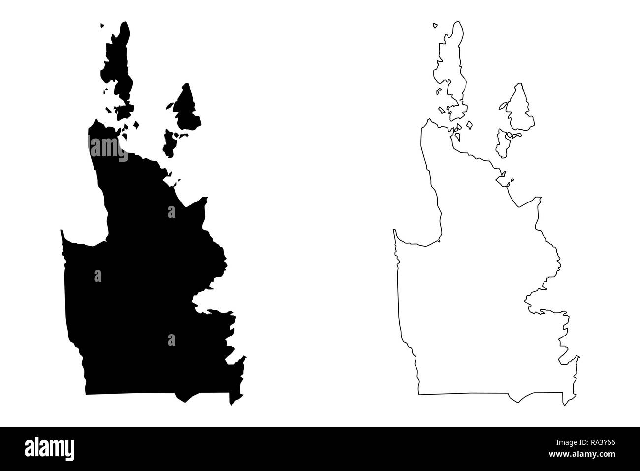 The Philippines Map Black and White Stock Photos & Images - Alamy
