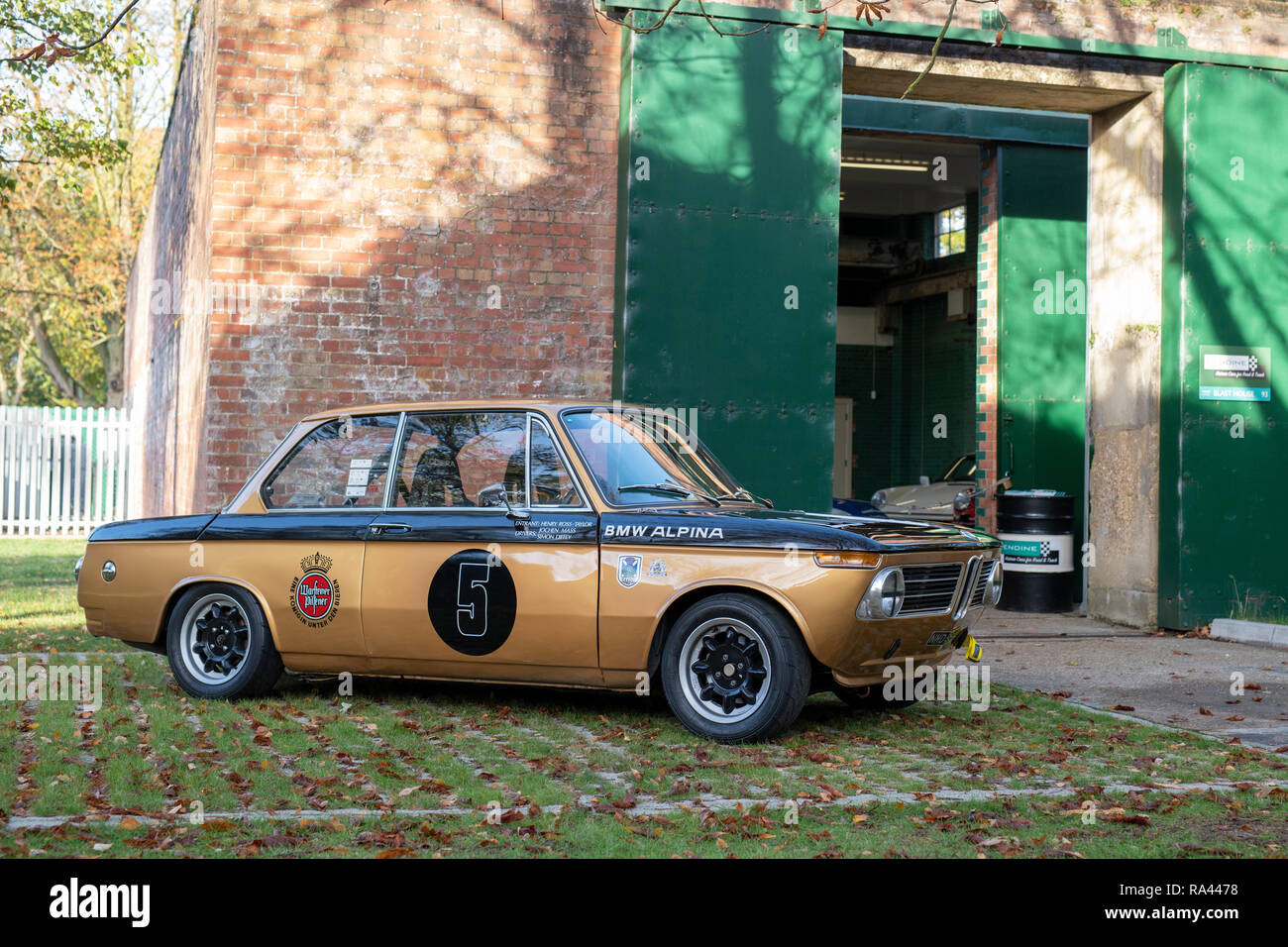 1972 BMW 2002 at Bicester heritage centre autumn sunday scramble event. Bicester, Oxfordshire, UK - Stock Image