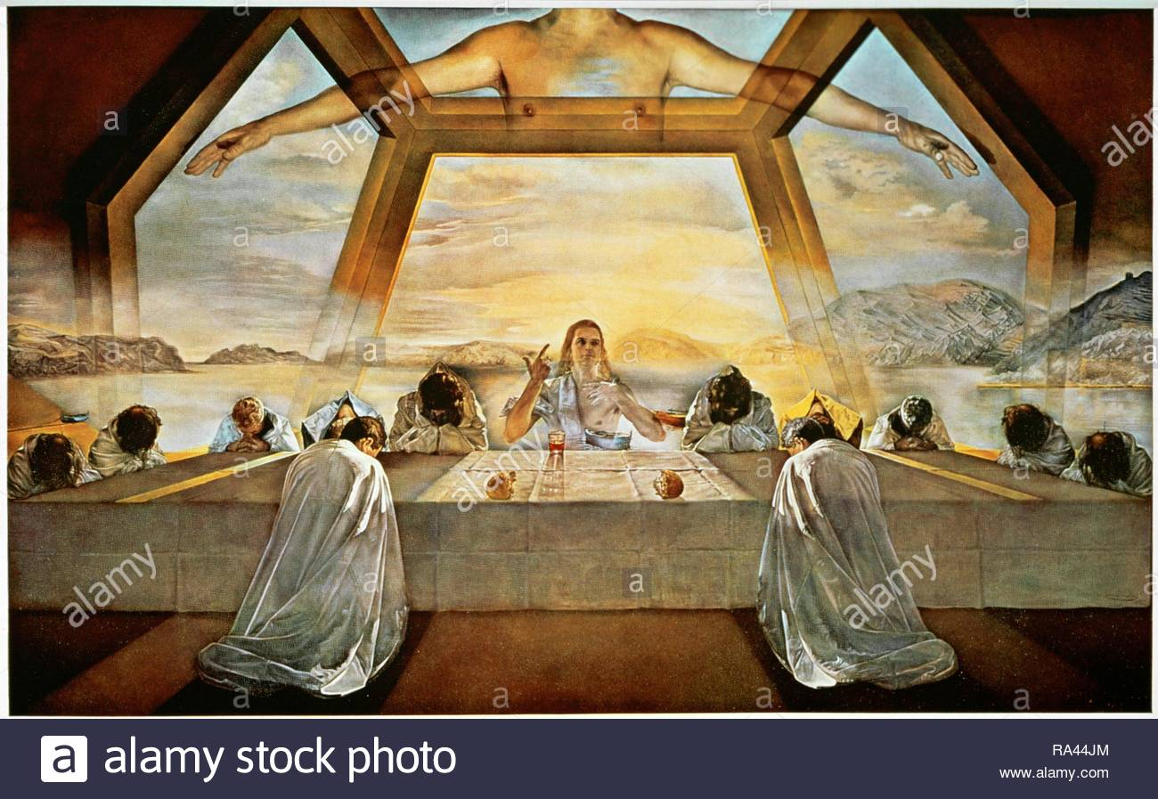 Salvador Dalí, 'The Sacrament of the Last Supper', 1955, Oil on canvas, 167 x 268 cm. Museum: NATIONAL GALLERY. - Stock Image