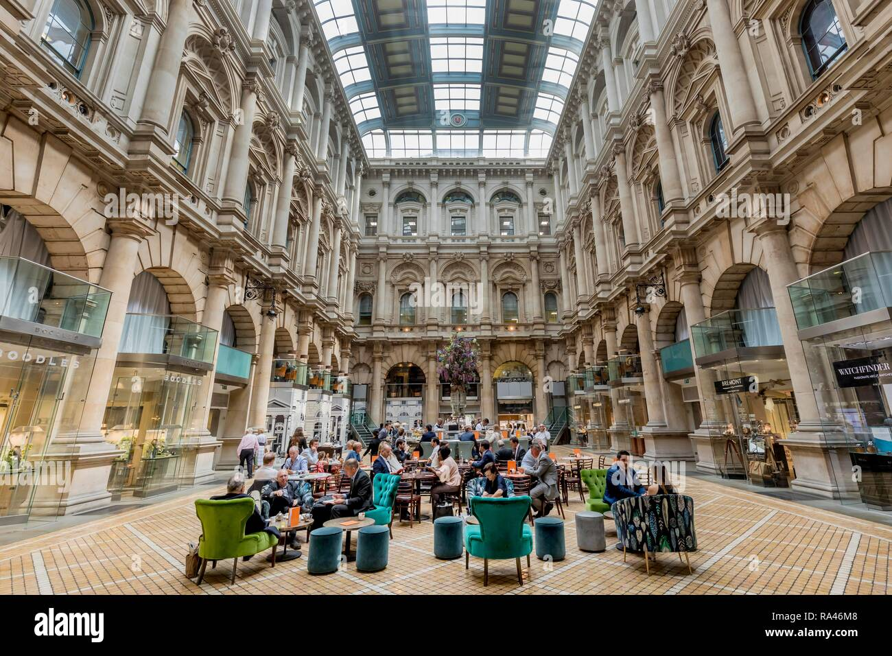 Royal Exchange, interior view, Threadneedle Street, financial district, London, Great Britain - Stock Image