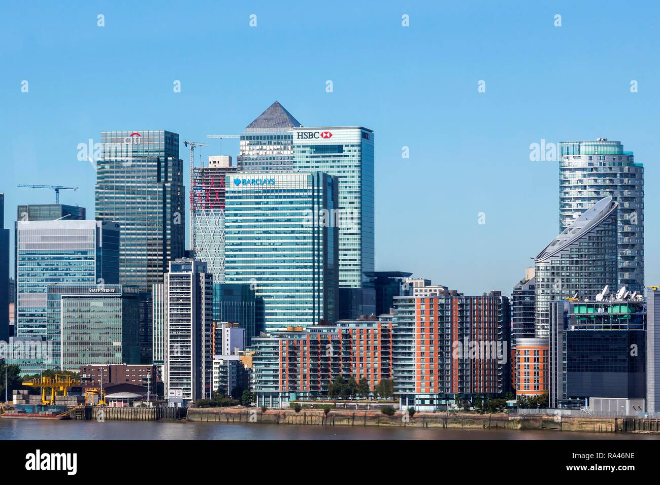 Canary Wharf, Financial District, Banking District, Financial Centre, London, United Kingdom - Stock Image