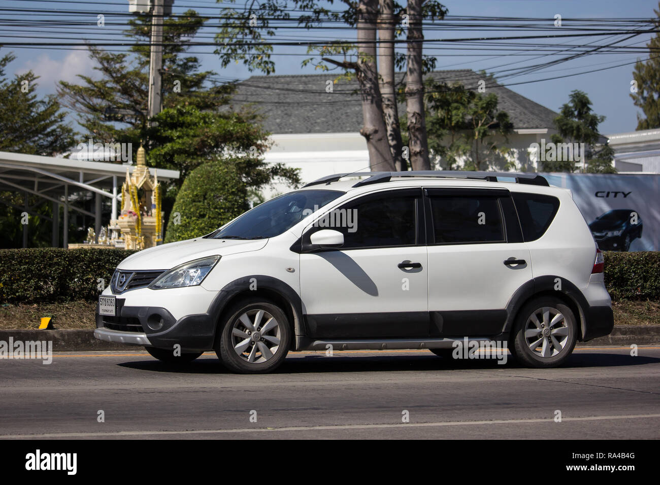 Chiangmai Thailand December 25 2018 Private Nissan Livina Car