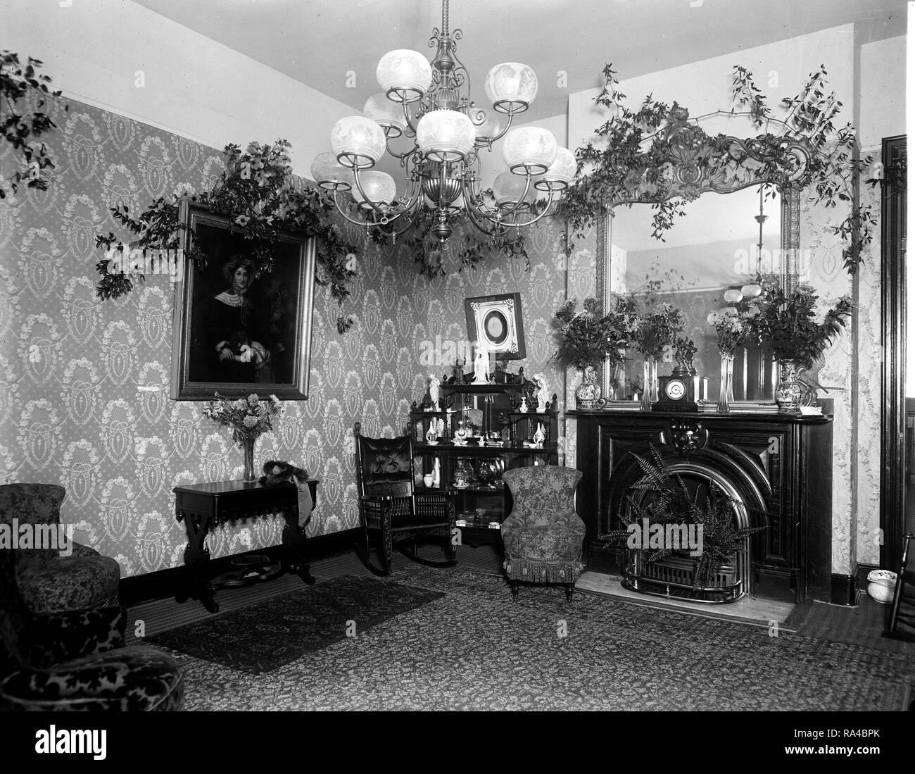 Interior Of The Washington Orphan Assylum Ca Early 1900s No Children Stock