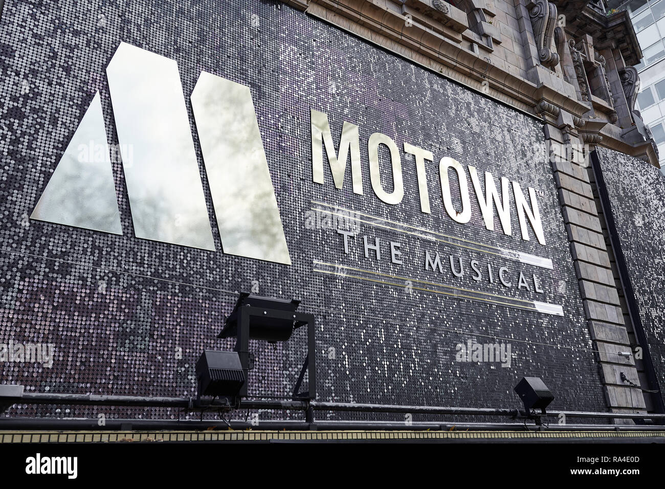 Motown The Musical show at the Shaftesbury theatre, London, England. - Stock Image