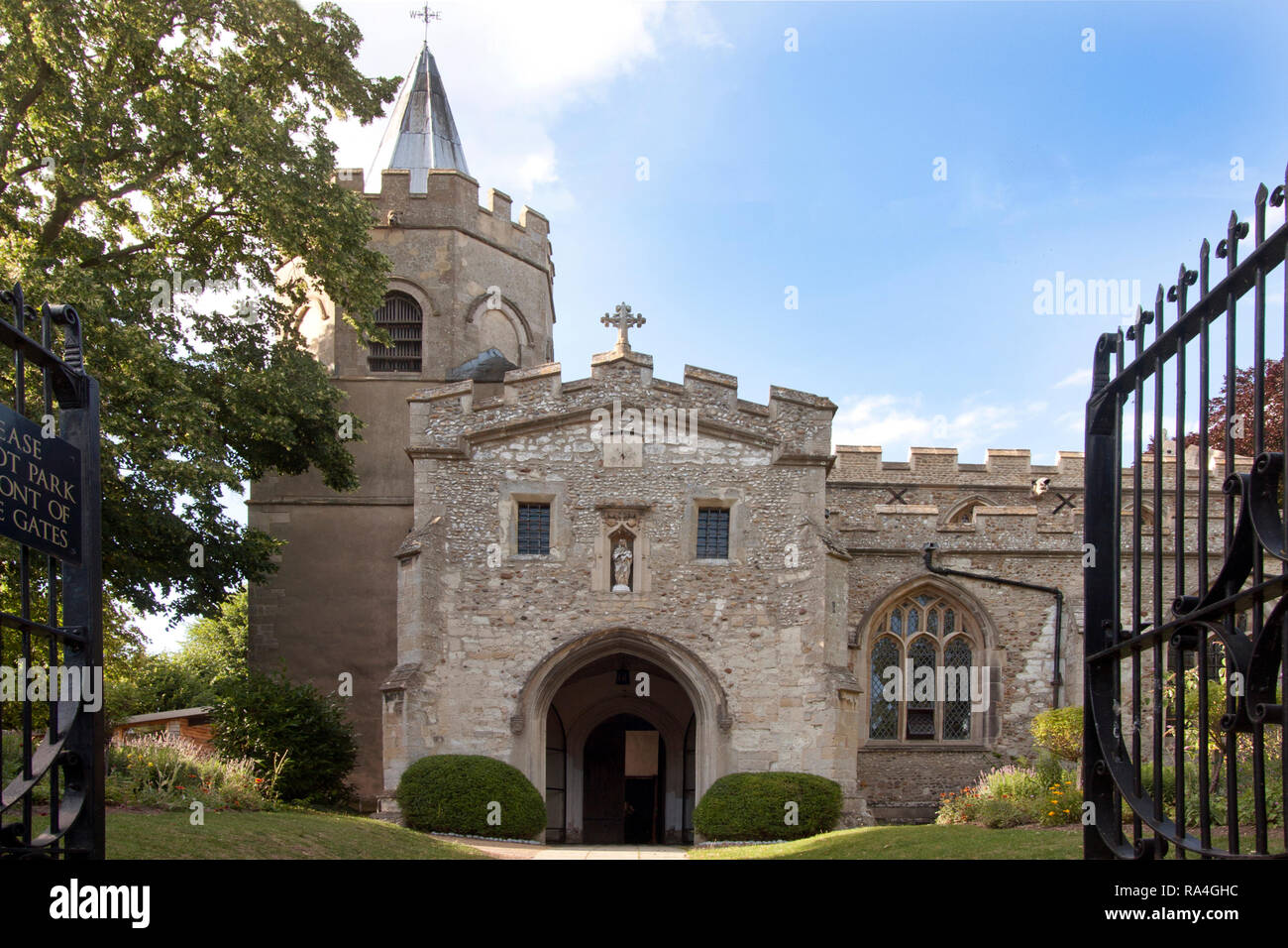 parish church of St Mary the Virgin, Great Shelford, Cambridge, Cambridgeshire, England - Stock Image