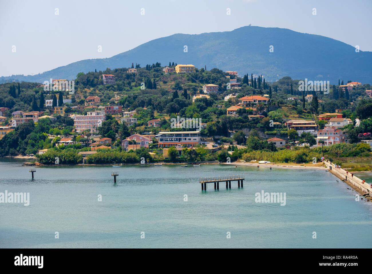 Beautiful island of Corfu, Paleokastritsa bay with charming and wonderful panoramic views in Greece ( Kerkyra) - Stock Image