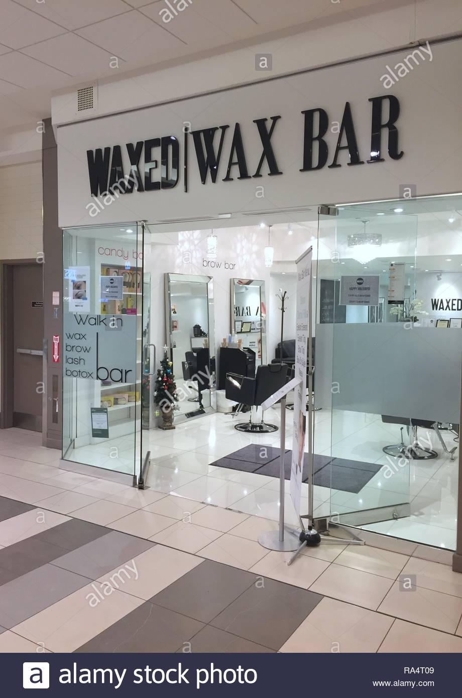 Body waxing salon in Toronto, Ontario, Canada - Stock Image