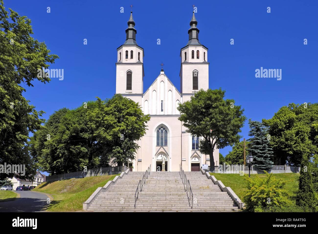 Piatnica, Podlaskie - Kosciol Parafialny pw. Przemienienia Panskiego Piatnica, Podlaskie / Poland - The transfiguration parish church in the town center of Piatnica, Lomza region, in north-eastern Pol - Stock Image