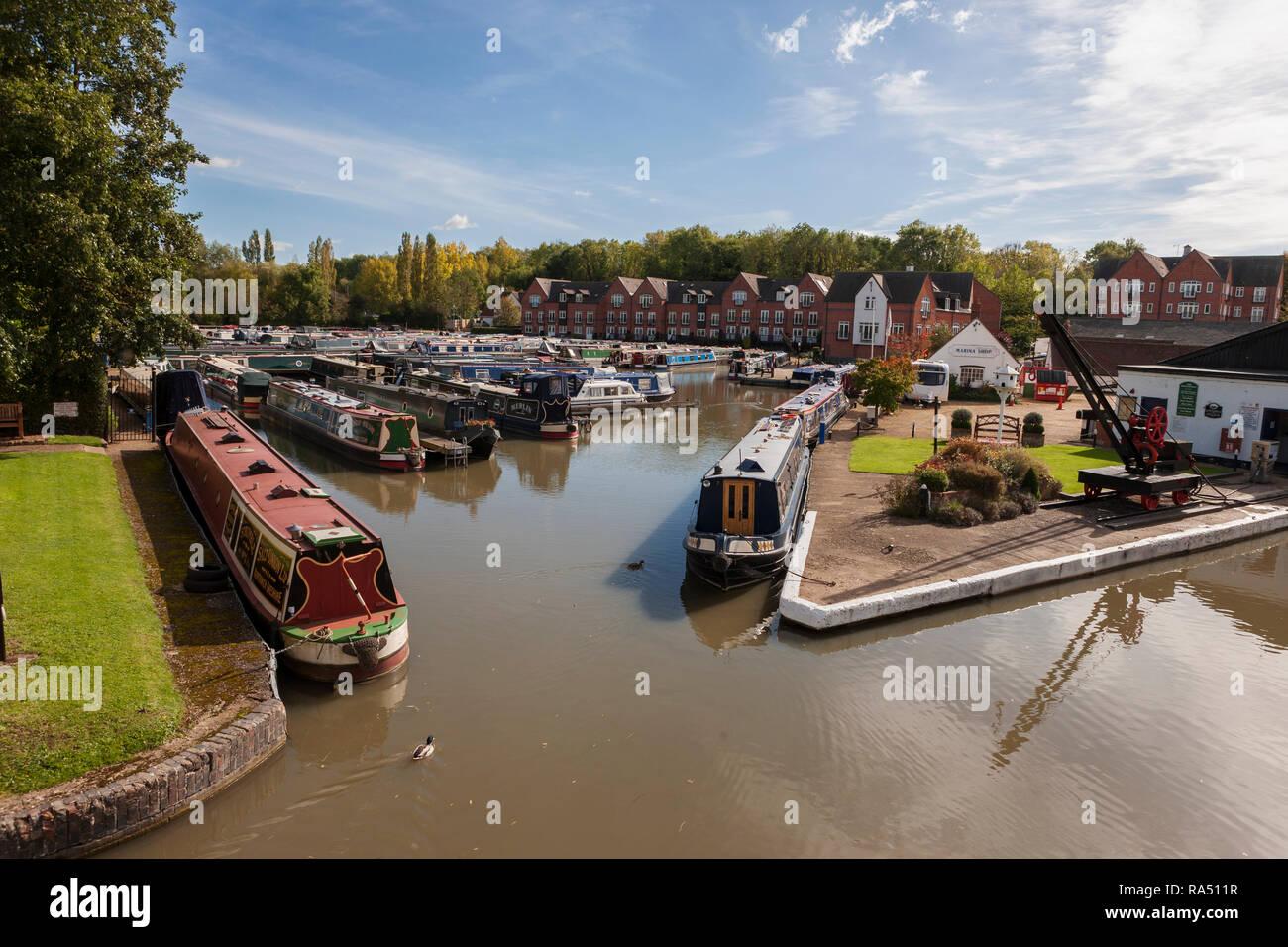 Braunston Marina and Wharf, Grand Union Canal, Braunston, Northamptonshire, England, UK - Stock Image