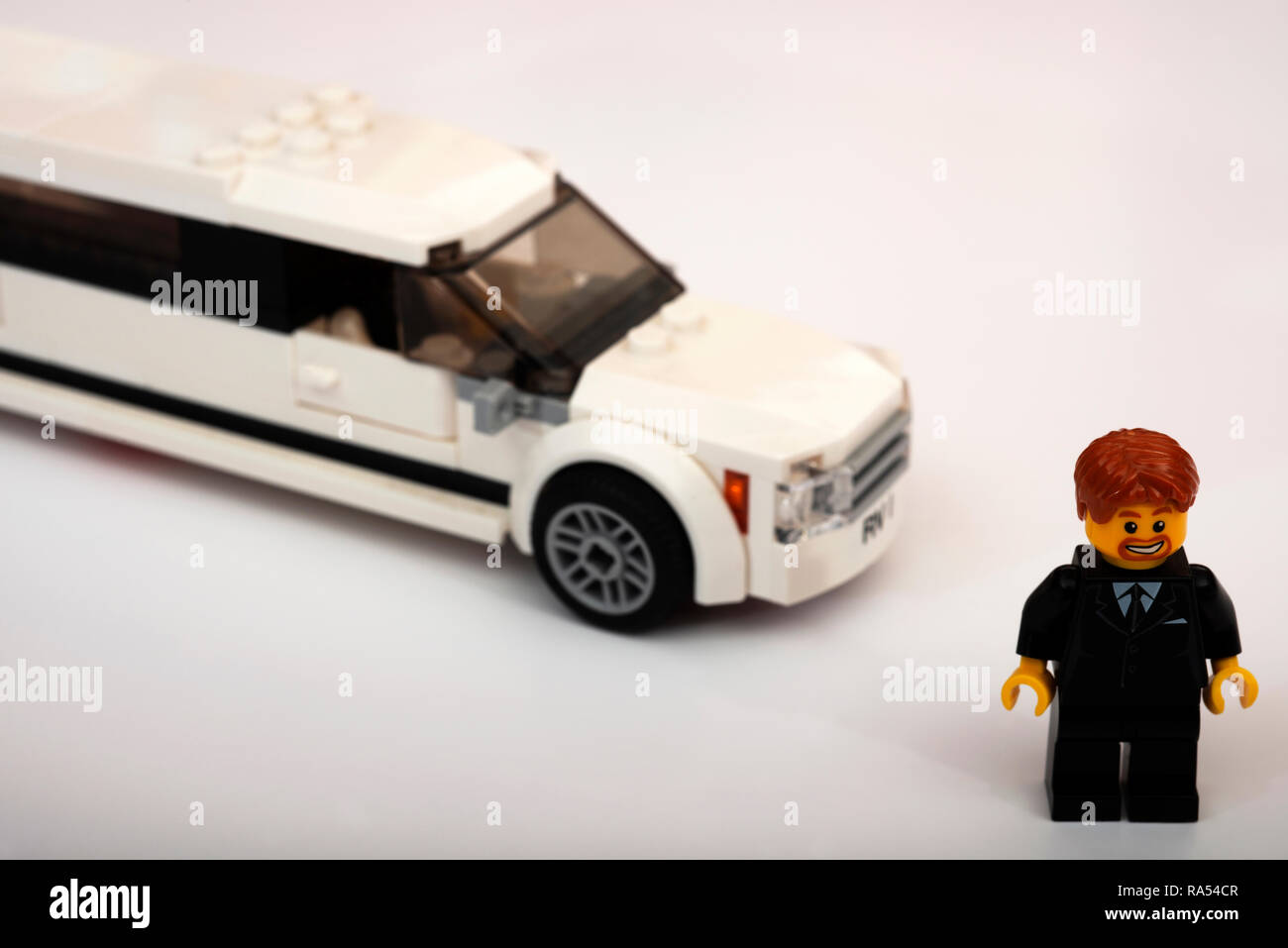 Lego limousine and driver - Stock Image