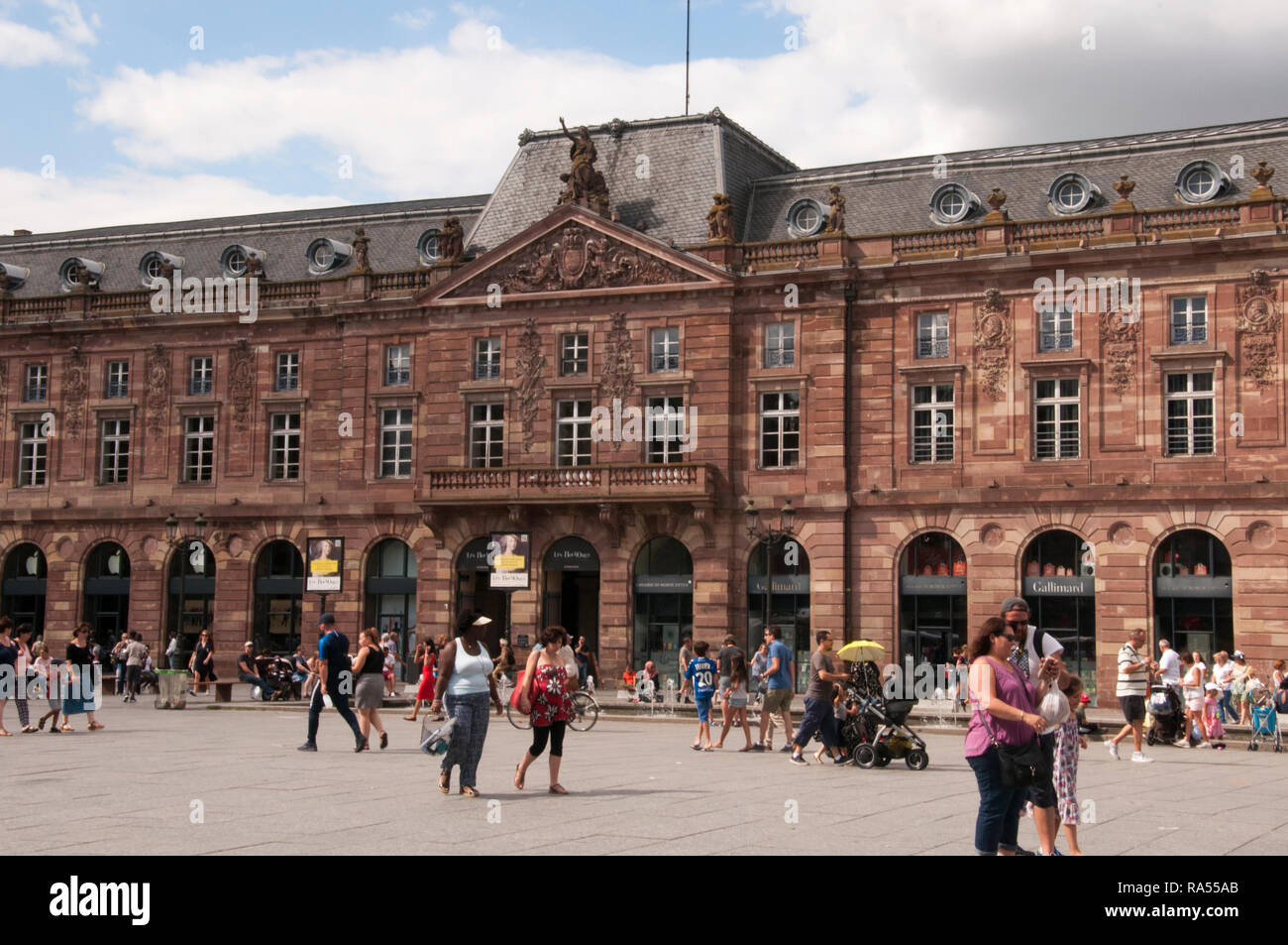 Les Boutiques shopping mall in Place Kleber, Strasbourg, Alsace, France - Stock Image