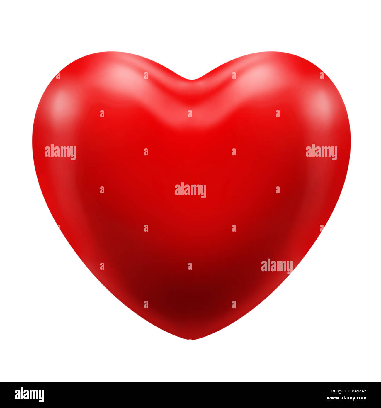 Red classic heart icon a relationship love affair romance appreciation of a person or object or thing - Stock Image