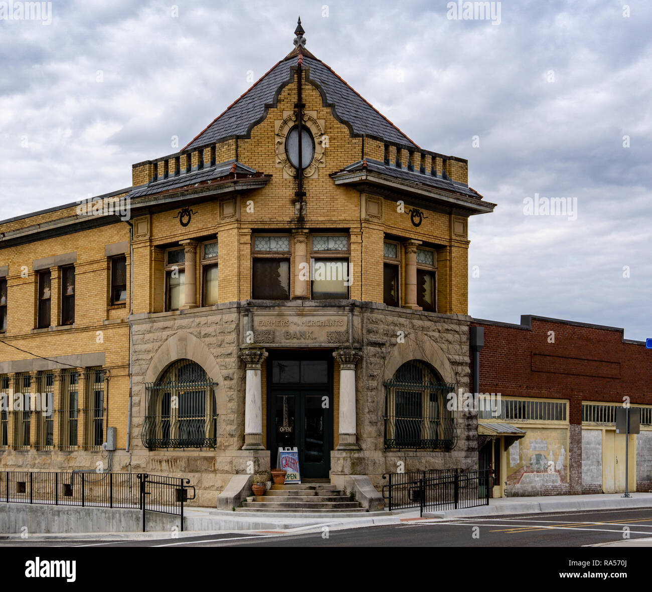 Farmers and Merchants Bank in Pilot Point, Texas where the