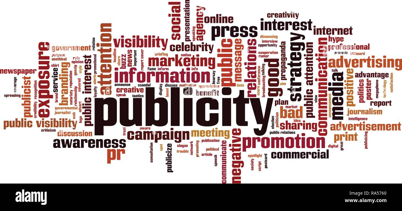 Publicity word cloud concept. Vector illustration - Stock Vector