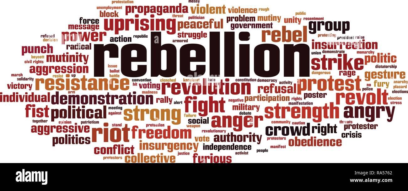 Rebellion word cloud concept. Vector illustration - Stock Vector