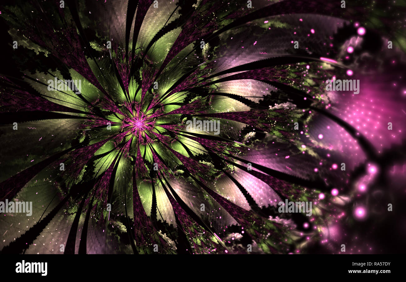 Abstract Computer Generated Fractal Flower Design Digital Artwork For Tablet Background Desktop Wallpaper Or For Creative Cover Design Stock Photo Alamy