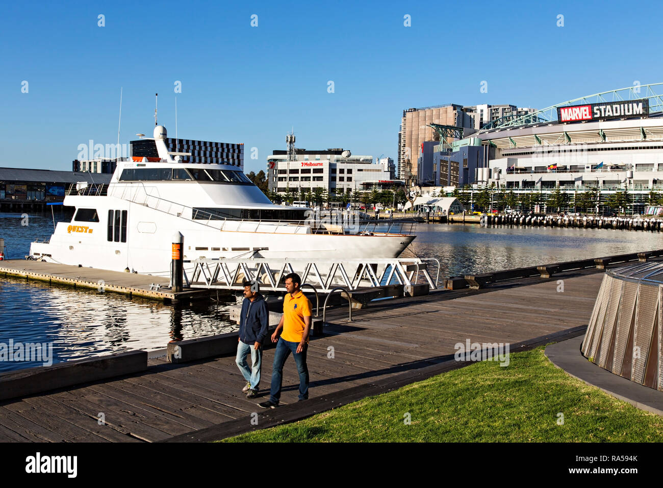 The luxury charter boat Quest iii berthed in Victoria