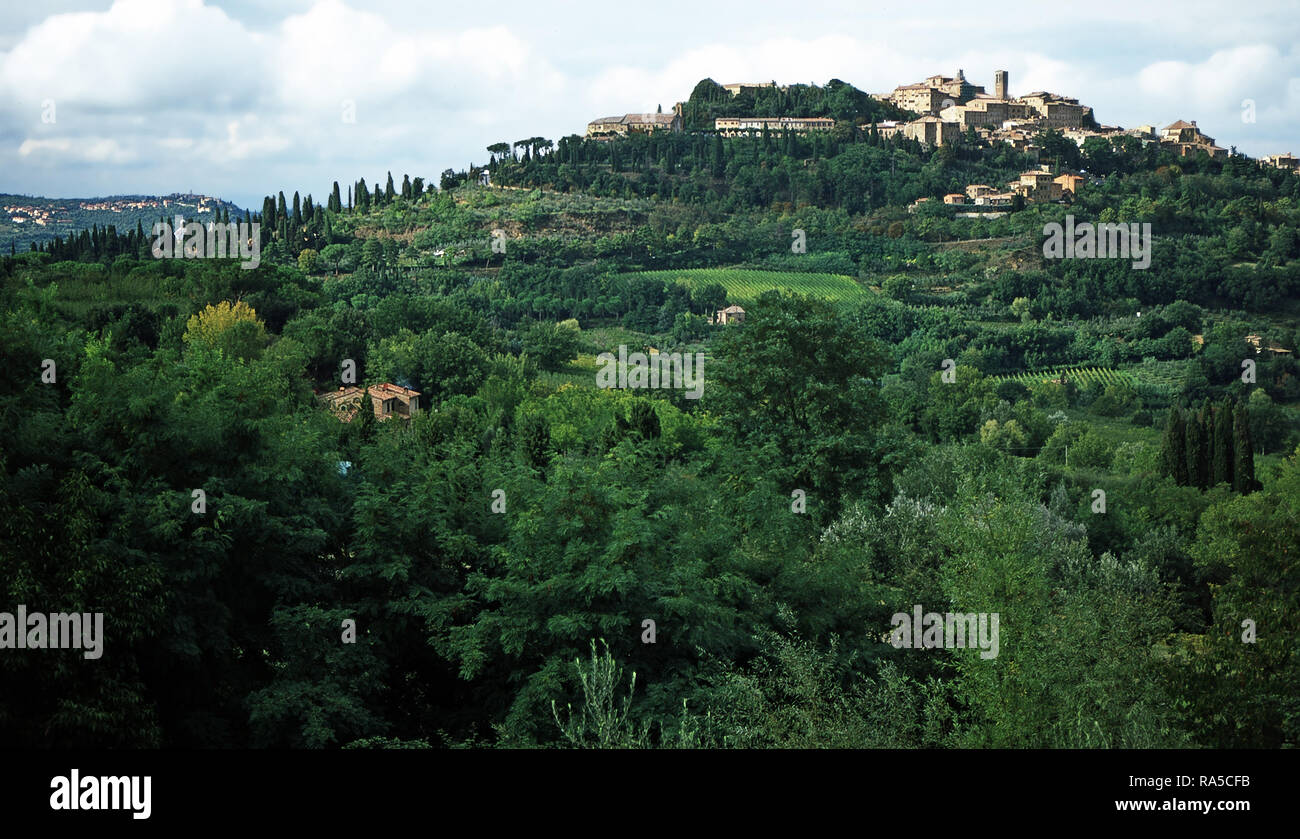 Hilltown of Montepulciano,Italy - Stock Image