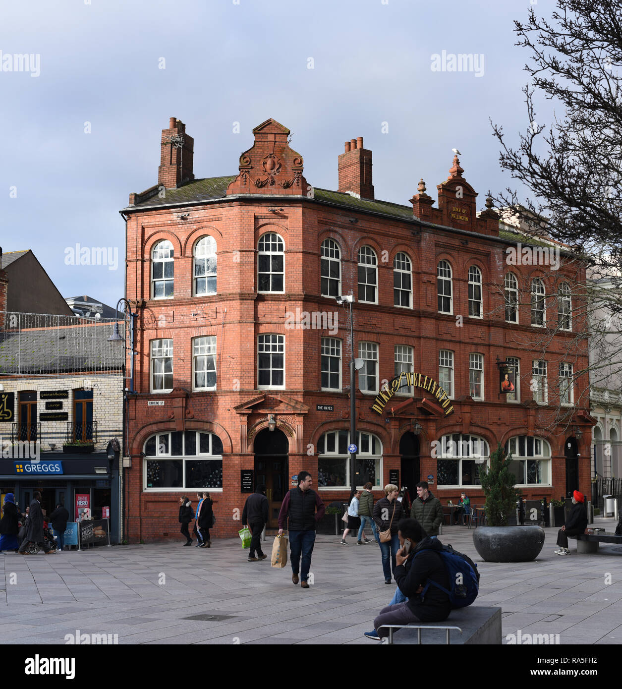 Duke of Wellington in 2018 a Brains pub number 3758 - Stock Image