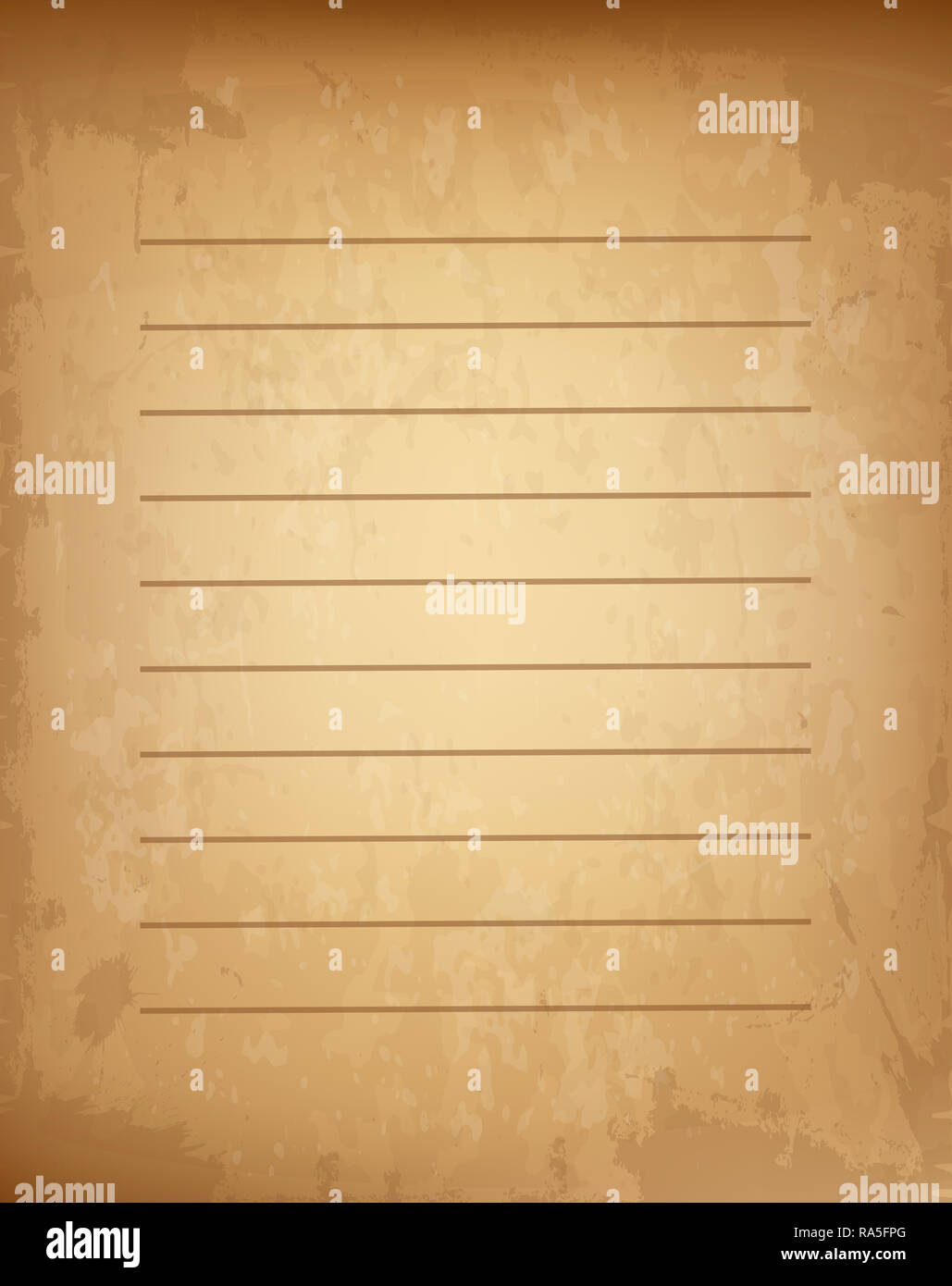 Old Grungy Vintage Lined Blank Worn Template For Mail