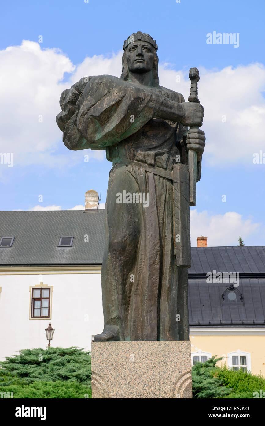 Monument to Prince Pribina (around 800-861), Slavic prince who was the first to build a Christian church on Slavic land - Stock Image