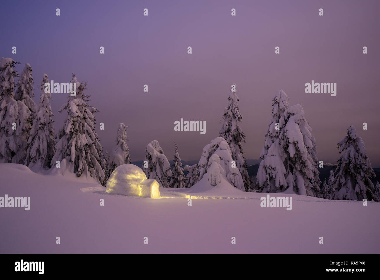 Eskimo Igloo Stock Photos & Eskimo Igloo Stock Images - Alamy