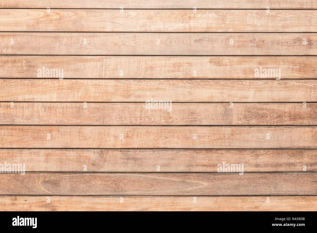 Beige-coloured wooden wall from horizontally laid single boards, Haria, Lanzarote, Canary Islands, Spain - Stock Image