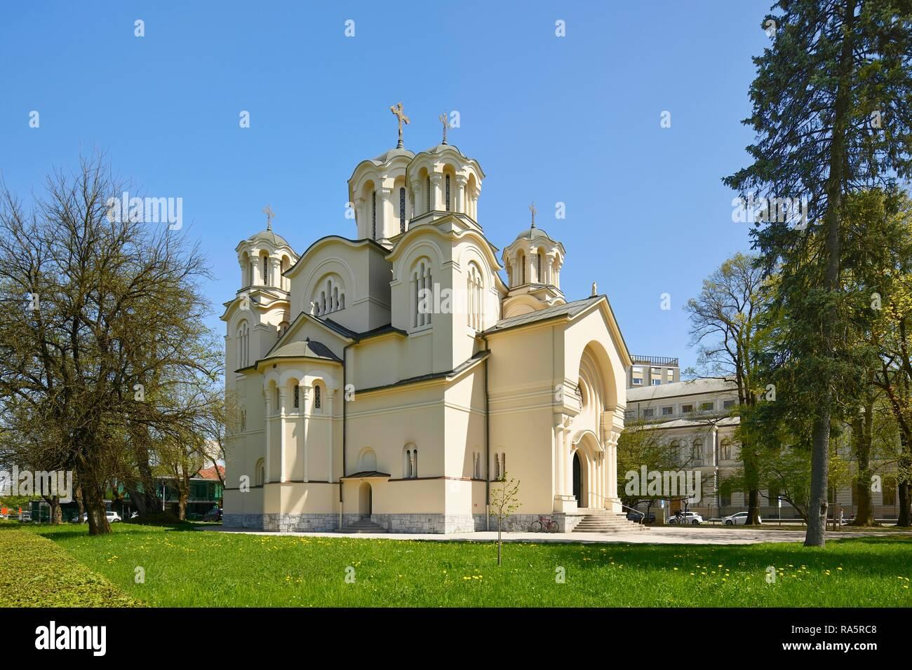 Serbian Orthodox Church of St. Cyril and Methodius, Ljubljana, Slovenia - Stock Image