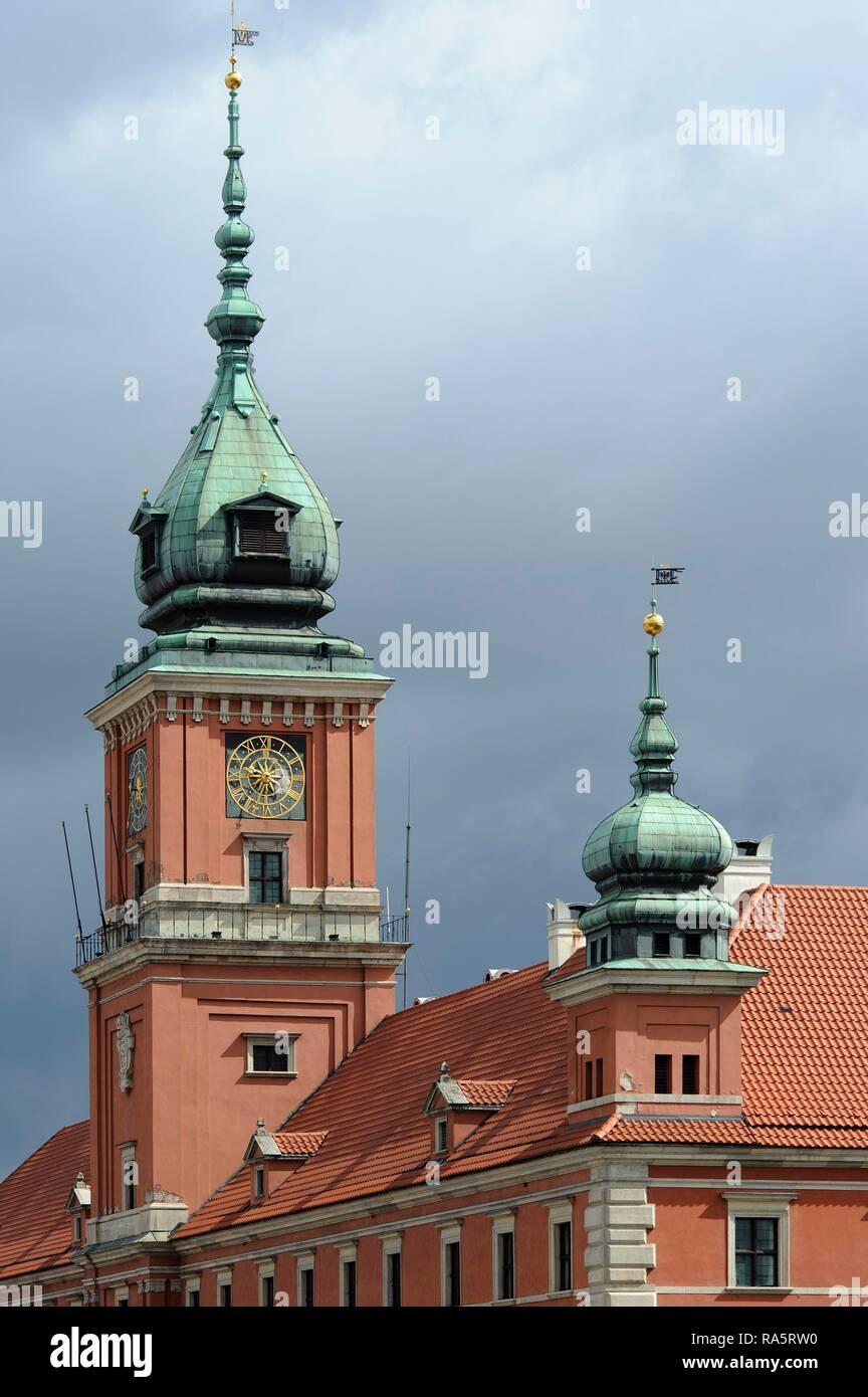 Castle, Warsaw, Mazovia Province, Poland - Stock Image
