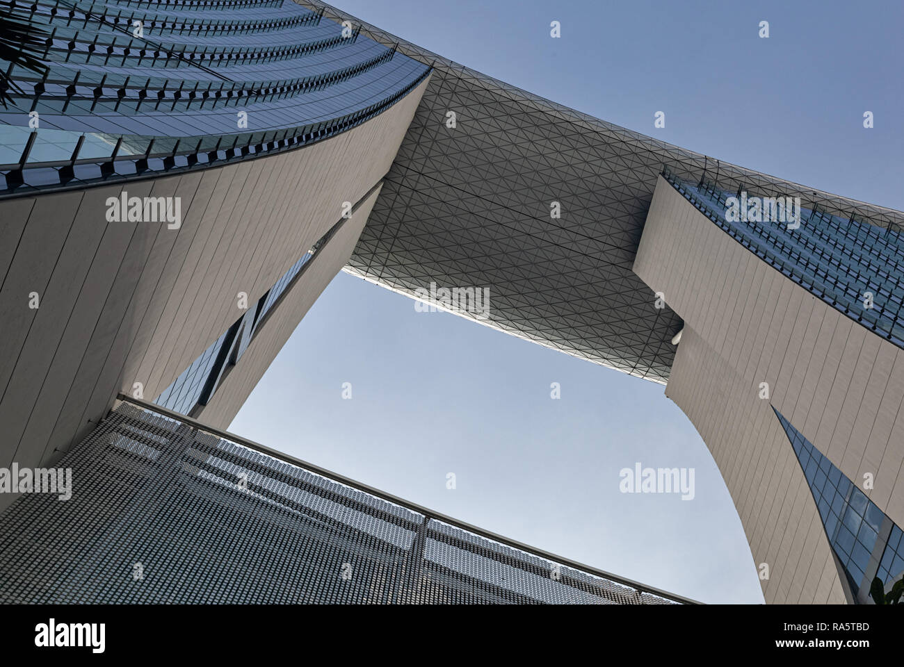 The Marina Bay Sands Hotel in Singapore - Stock Image