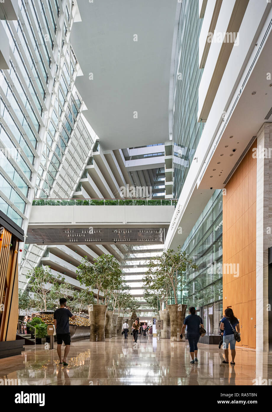 Marina Bay Sands Hotel Interior - Stock Image