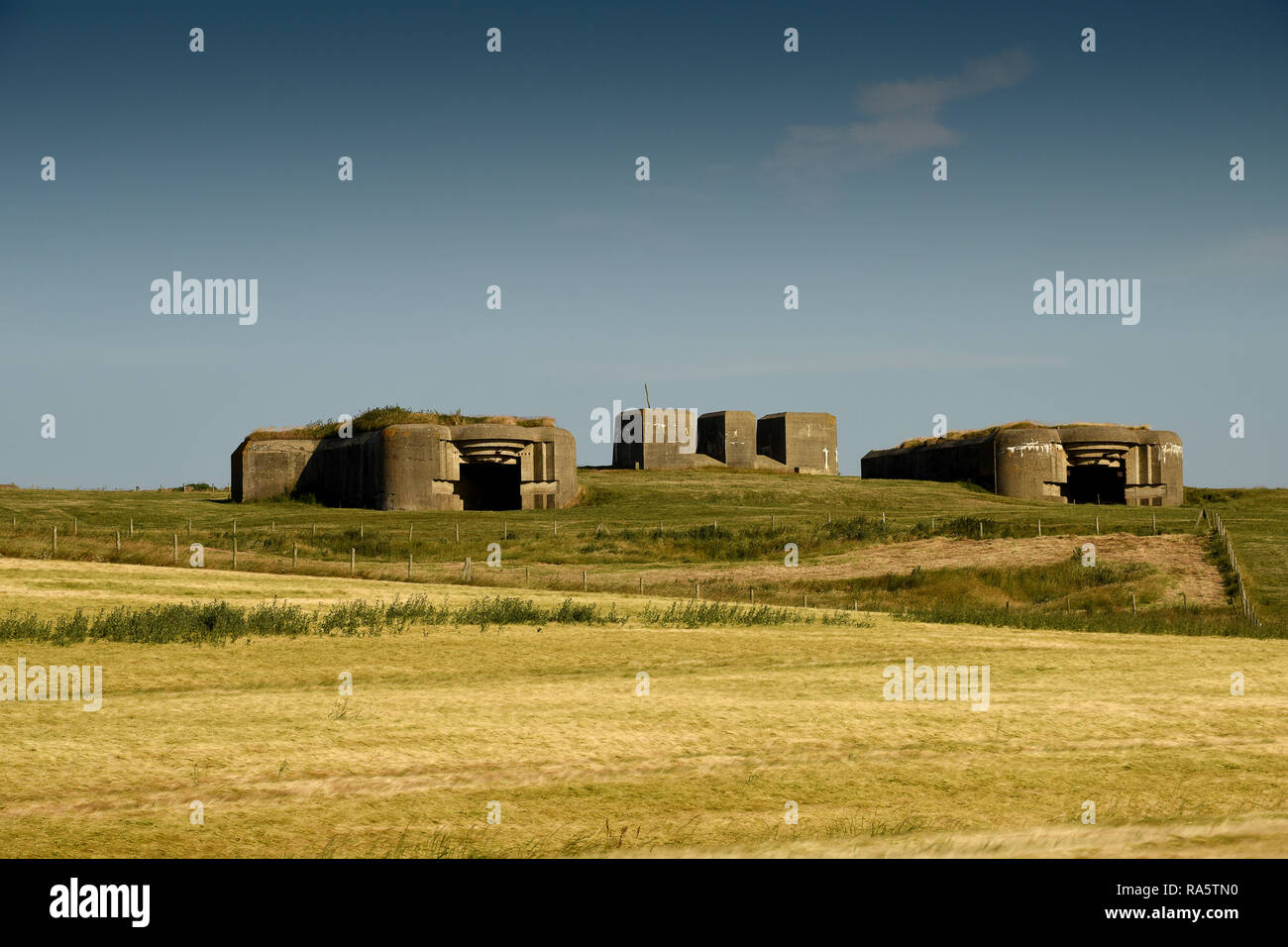 Poterie Nord Pas De Calais the bunker are part of the atlantic wall stock photos & the